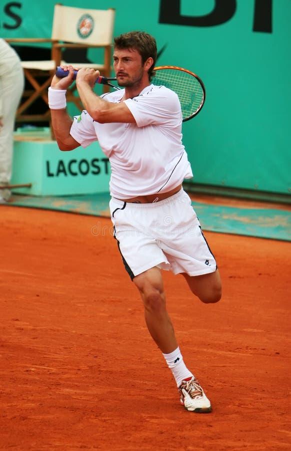 Juan de l'Espagne Carlos Ferrero chez Roland Garros photos libres de droits