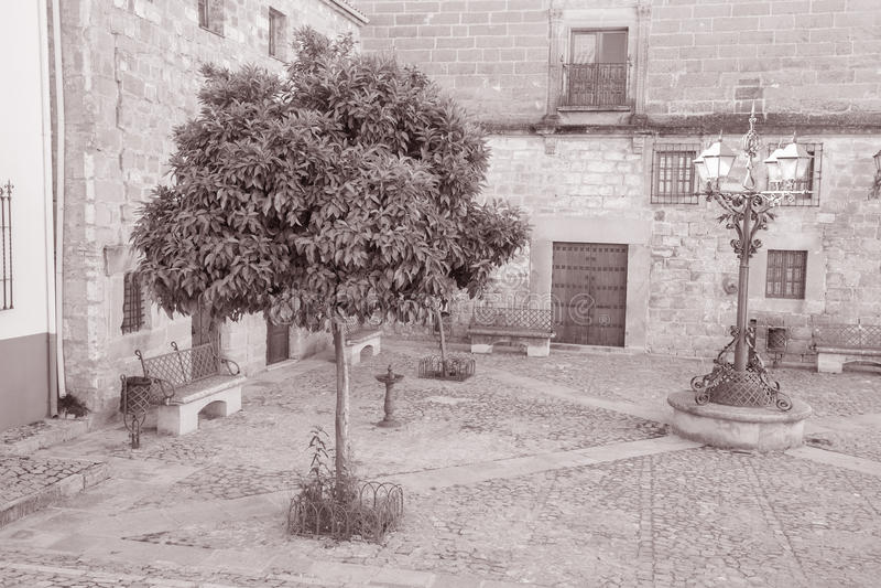 Juan de Valencia Square, Ubeda, a Andaluzia, Espanha imagens de stock royalty free