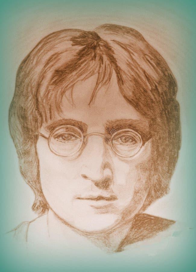 Juan Lennon stock de ilustración