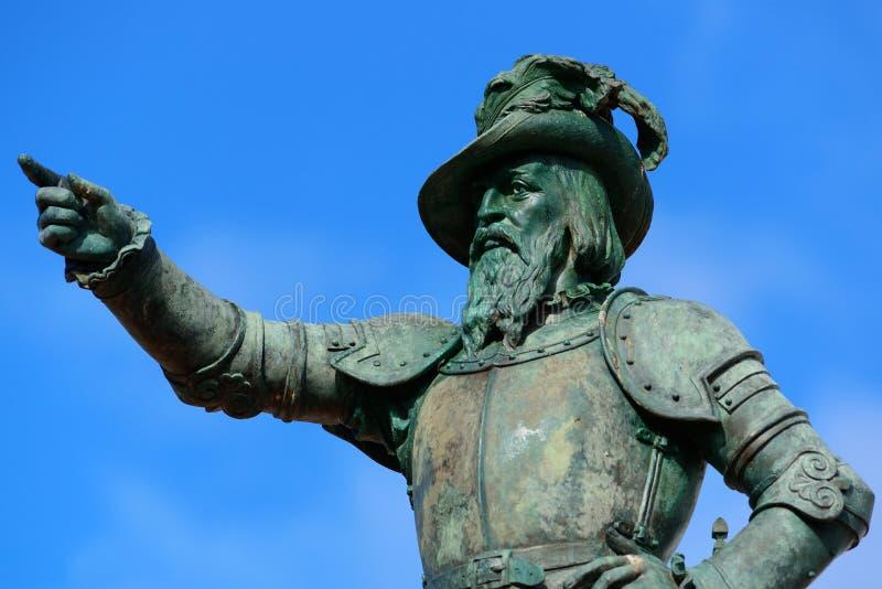 Juan Ponce De Leon-standbeeld royalty-vrije stock foto's