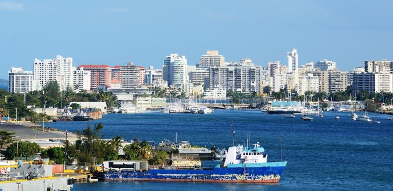 juan puerto rico San linia horyzontu obrazy stock