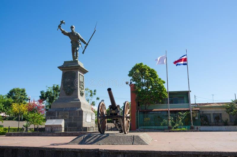 Juan Santamaria square stock photo