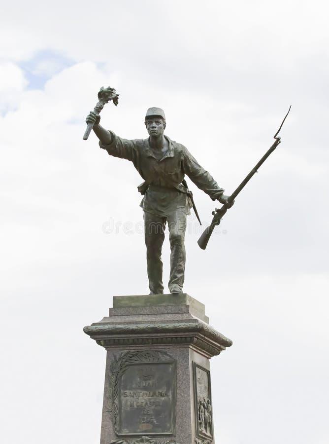 Juan Santamaria Statue, Alajuela, Costa Rica stock photo