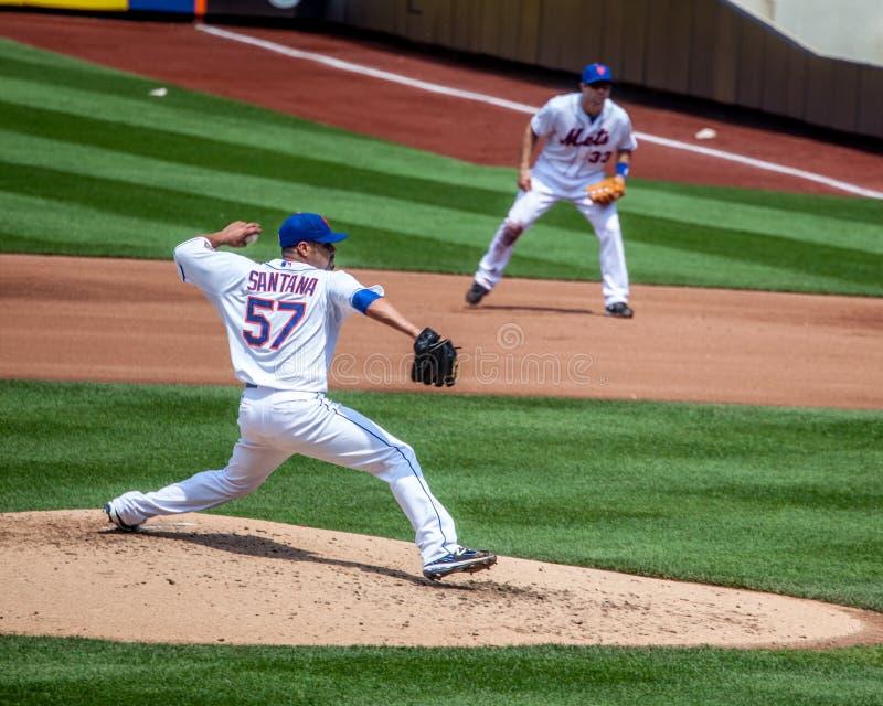 Juan Santana del NY Mets fotografía de archivo libre de regalías