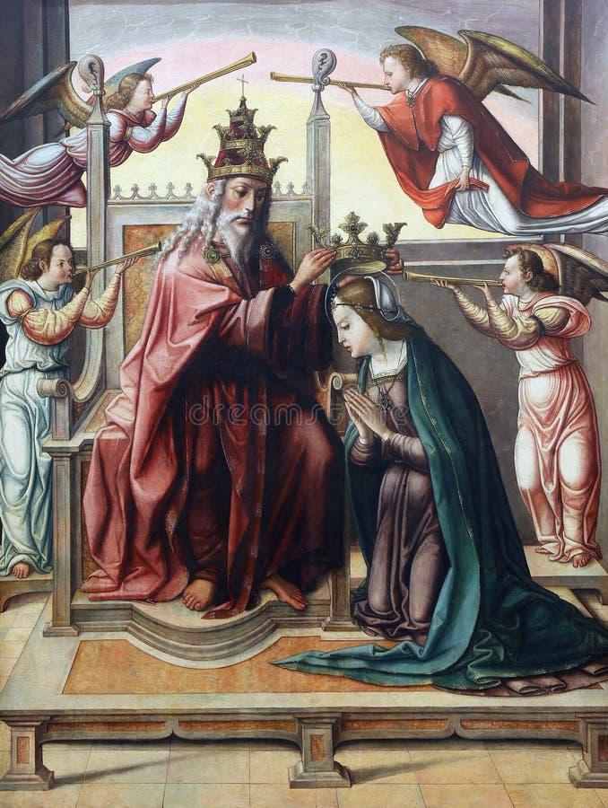 Juan Soreda: Coronation of the Virgin. Old Masters Collection, Croatian Academy of Sciences, December 08, 2014 in Zagreb, Croatia stock photos