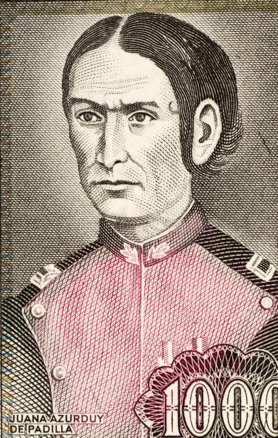Juana Azurduy de Padilla image stock