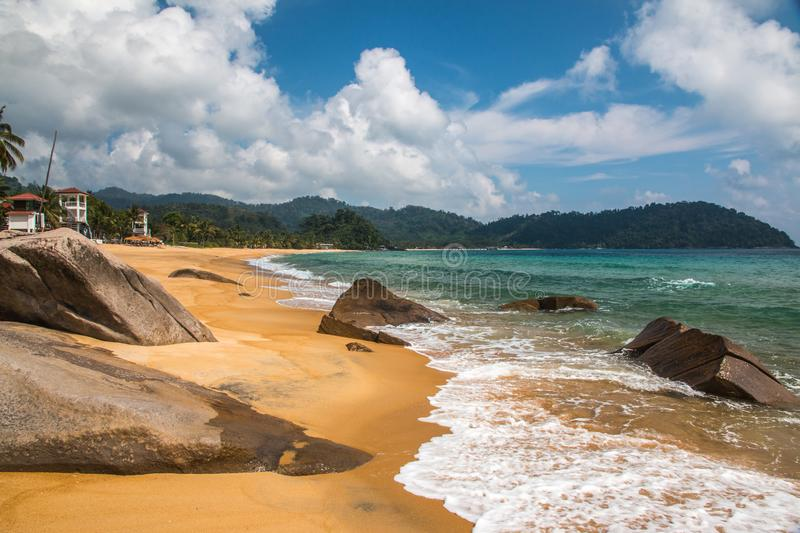 Juara beach of Tioman island royalty free stock photos