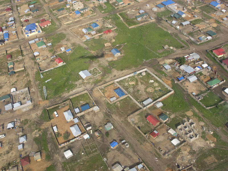 Juba,南苏丹鸟瞰图  库存图片