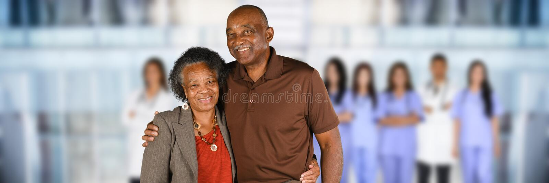 Jubilado en el hospital fotografía de archivo