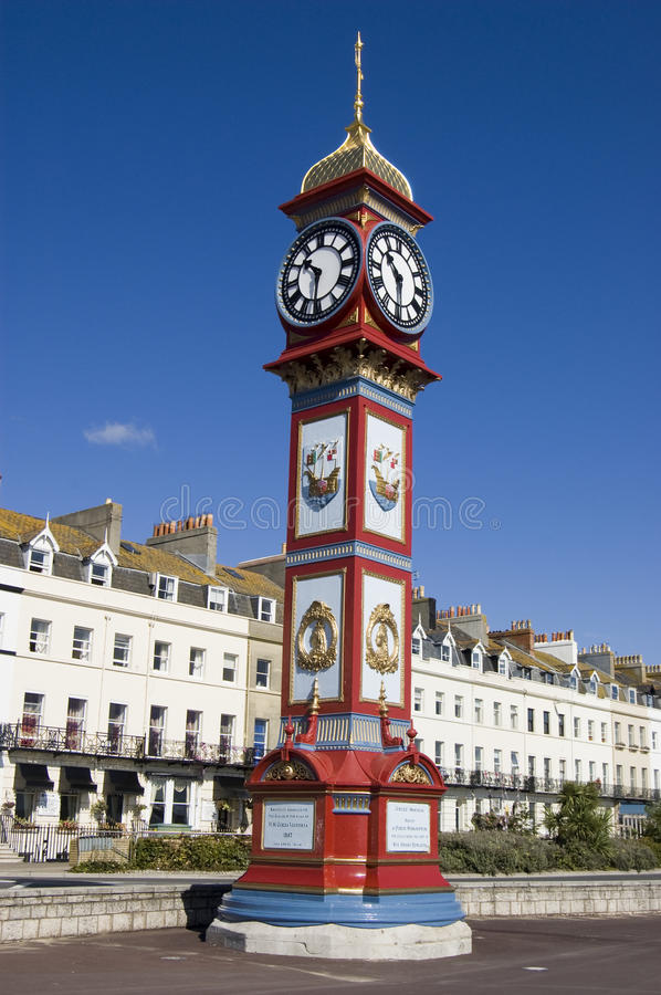 Jubilee Clock, Weymouth stock images