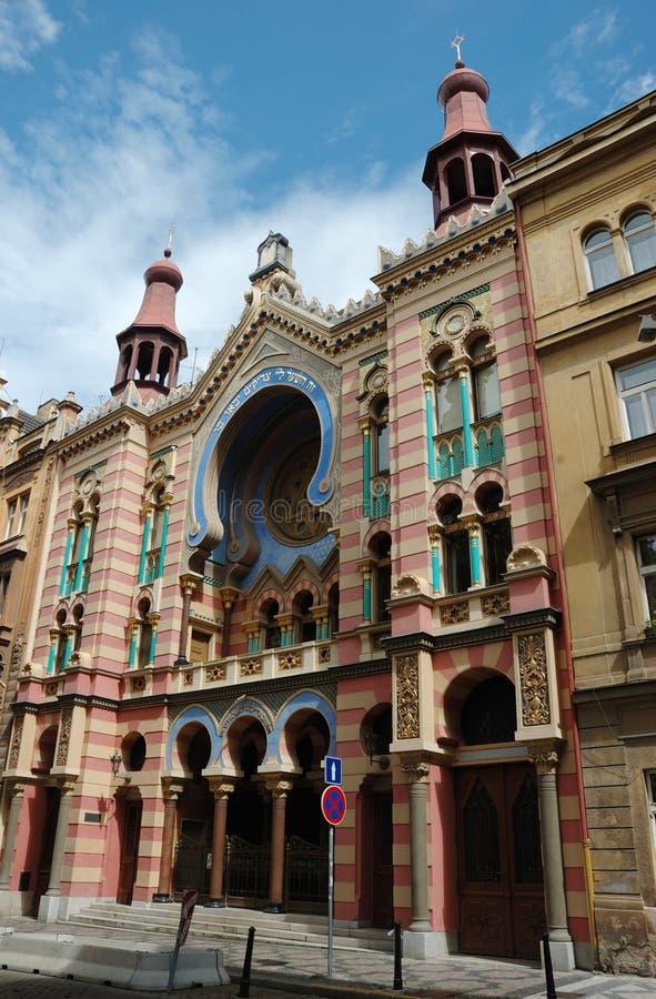 Jubilee or Jerusalem Synagogue in Prague royalty free stock images
