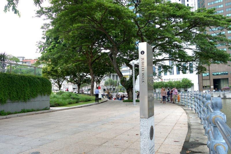 Jubilee Walk along Singapore River royalty free stock image