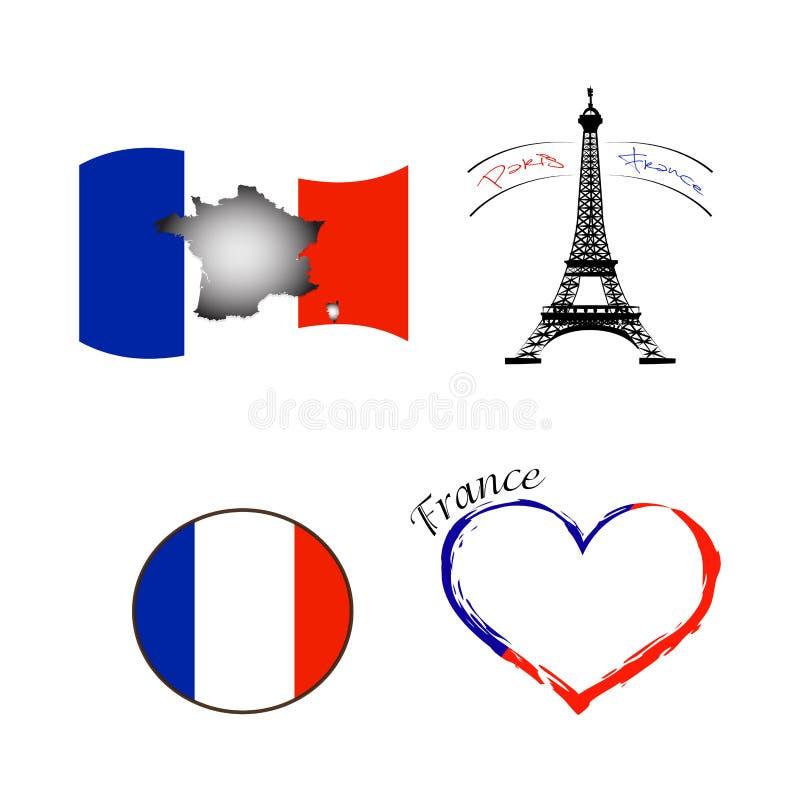 Download Jubileums- Frankrike Symbol Vektor Illustrationer - Illustration av nationellt, attractor: 106829886