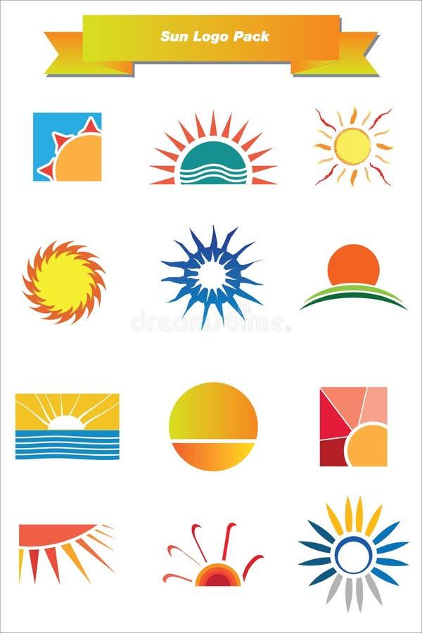 juczny loga słońce royalty ilustracja