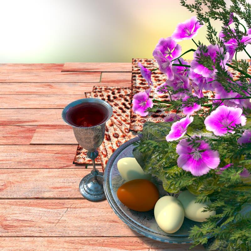 Judío celebre el passover del pesach con los huevos fotos de archivo libres de regalías