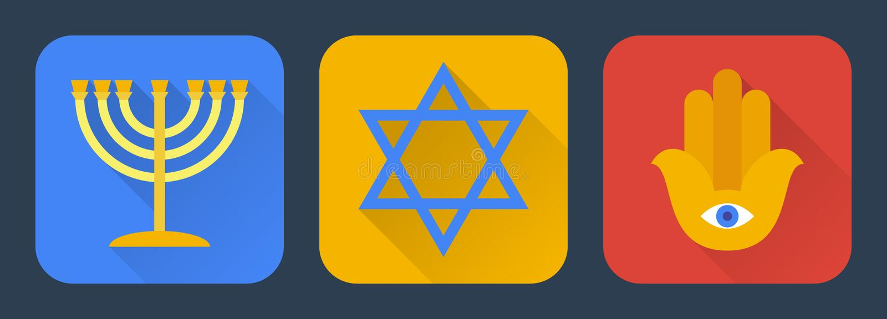Judaísmo liso ilustração royalty free