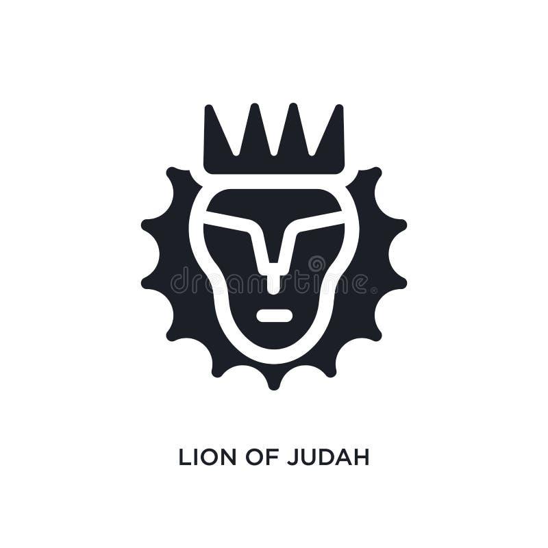 judah被隔绝的传染媒介象黑狮子  r 编辑可能judah的狮子  皇族释放例证
