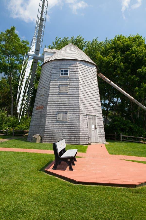 Judah Baker Windmill dans Yarmouth du sud, Etats-Unis image stock