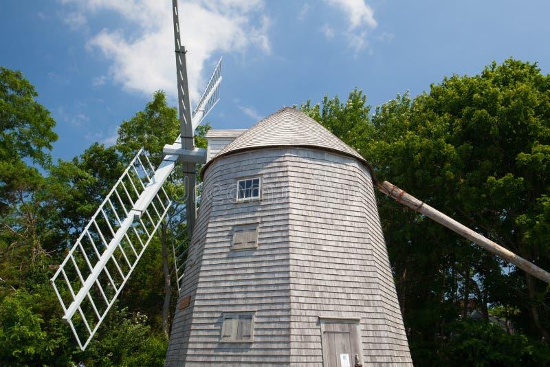 Judah Baker Windmill dans Yarmouth du sud, Etats-Unis photo stock