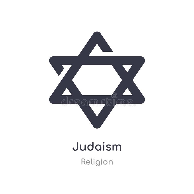 Judaism icon. isolated judaism icon vector illustration from religion collection. editable sing symbol can be use for web site and. Mobile app vector illustration