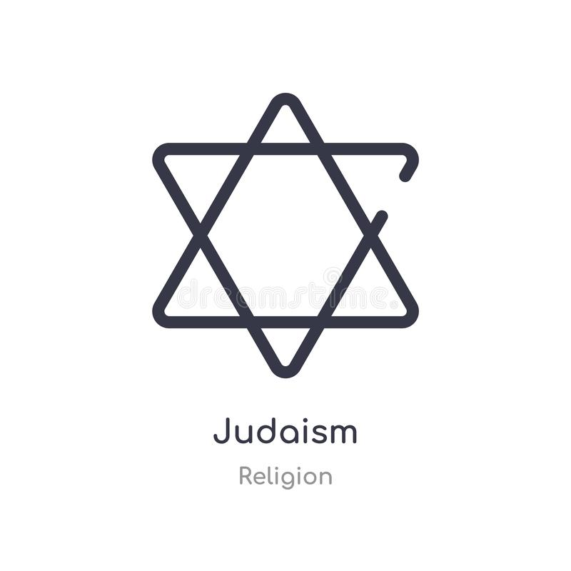 Judaism outline icon. isolated line vector illustration from religion collection. editable thin stroke judaism icon on white. Background vector illustration