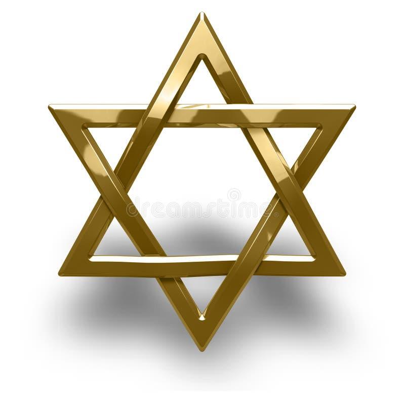 Judaism Religious Symbol Star Of David Stock Illustration