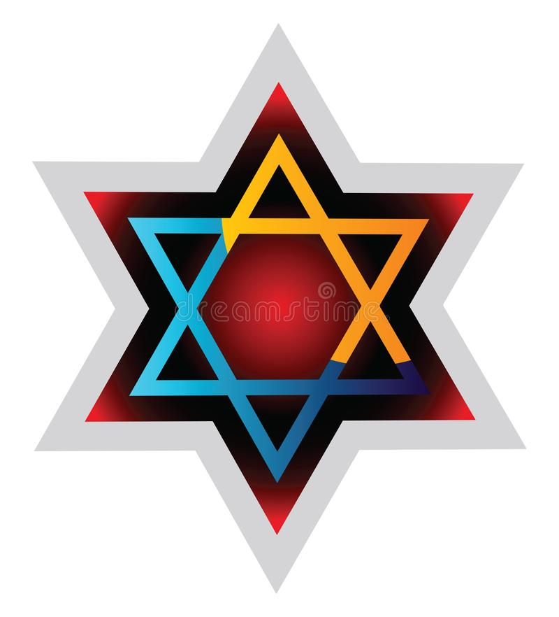 Judaism symol colorful vector illustration on a. White background vector illustration