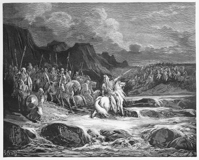 Judas Maccabeus Pursuing Timotheus stock abbildung