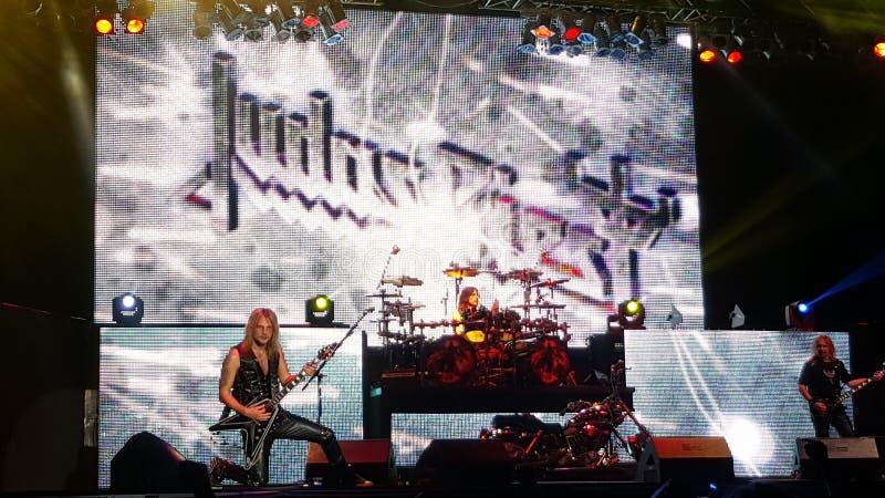 Judas Priest à Bucarest 2015 photo stock