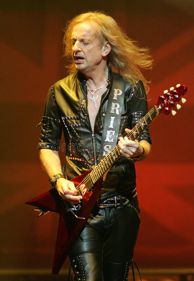 Judas Priest executa no concerto imagem de stock royalty free