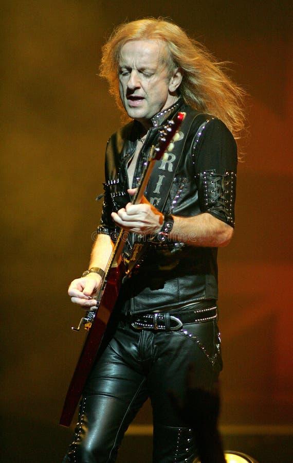 Judas Priest executa no concerto imagens de stock royalty free
