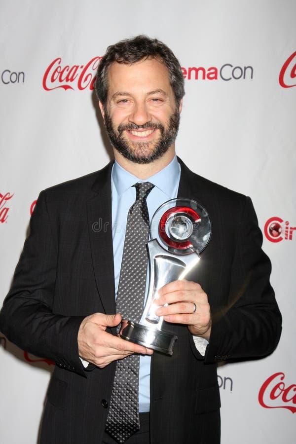 Judd Apatow chega nas concessões 2012 do talento de CinemaCon imagens de stock royalty free