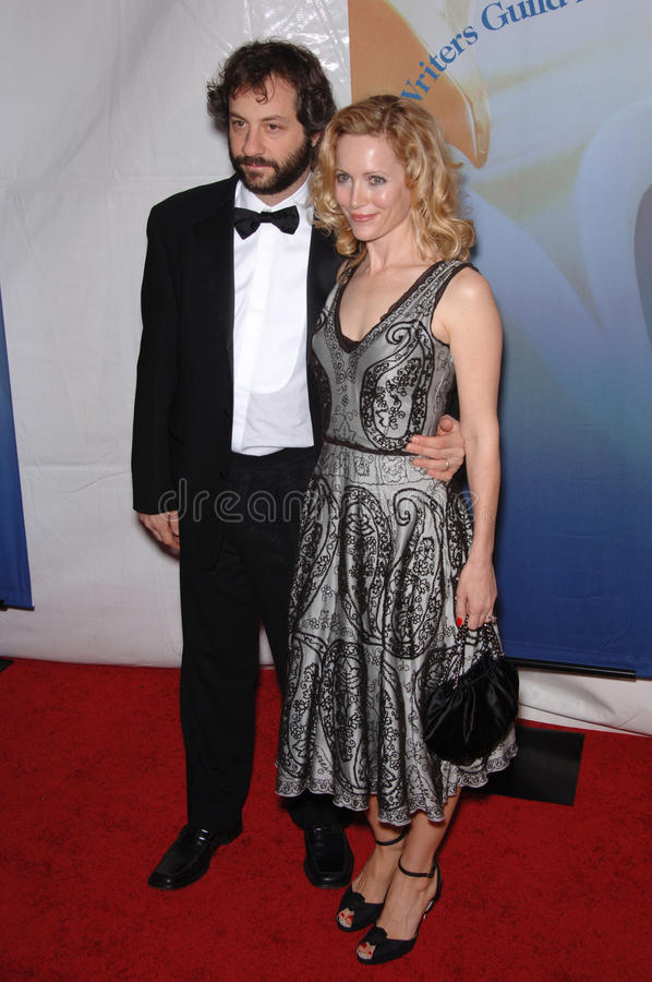 Judd Apatow,Leslie Mann royalty free stock photography
