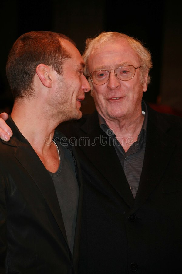 Jude Law & Michael Caine imagem de stock royalty free