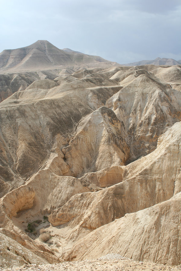 Judea Desert. View over Judea desert near the Dead Sea in Israel royalty free stock photo