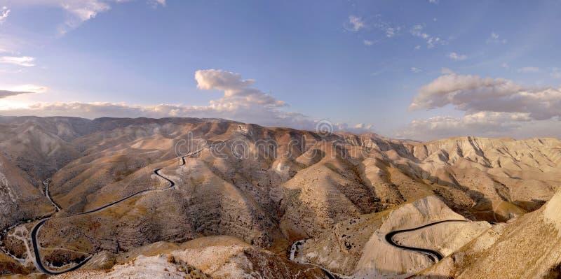 Judea desert mountains, Israel stock image