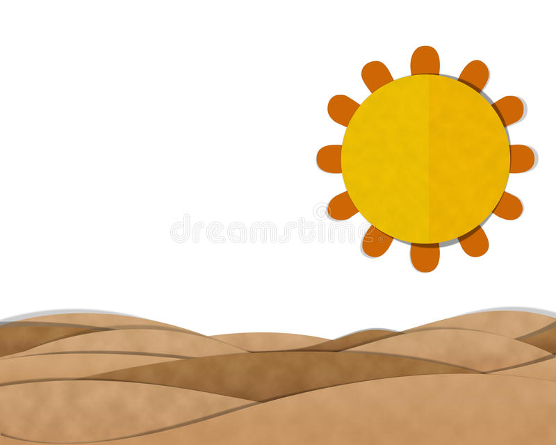 judean desert ilustracja wektor
