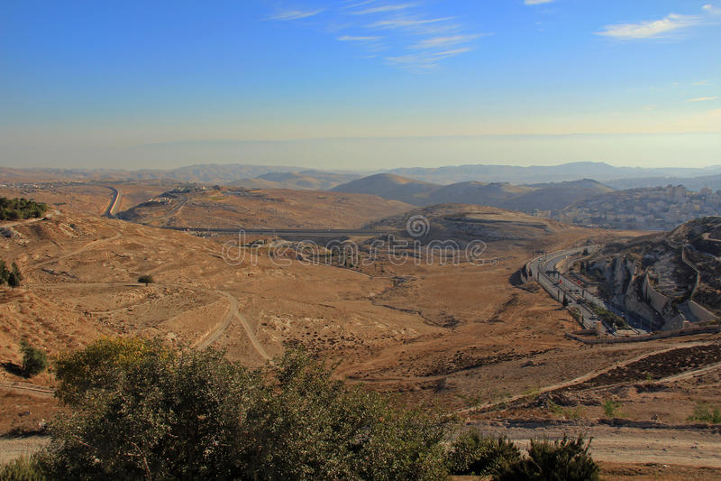 Judejski Pustynny pustkowie w Izrael obrazy stock