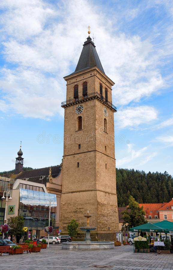 Stadtturm or city Tower in Judenburg, Austria stock photos