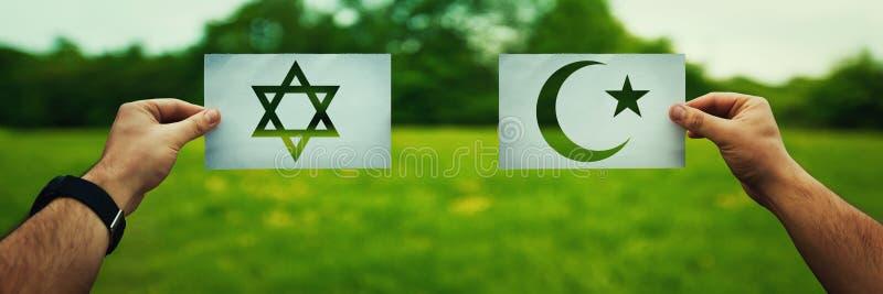 Judentum gegen Islamglauben lizenzfreies stockbild