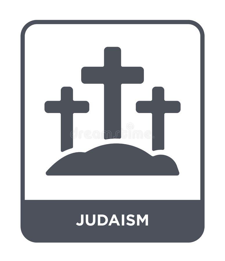 Judentumsikone in der modischen Entwurfsart Judentumsikone lokalisiert auf weißem Hintergrund einfaches und modernes flaches Symb vektor abbildung