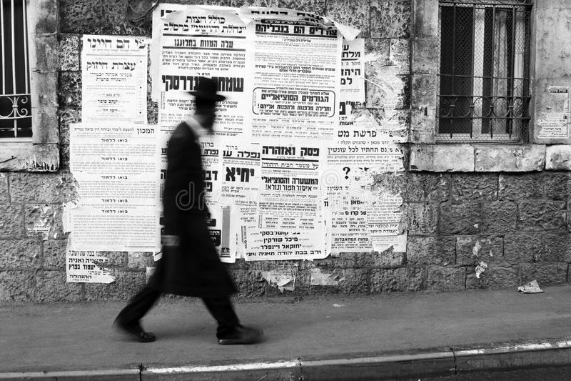 Judeu Ortodoxo Em Mea Shearim Foto de Stock Editorial