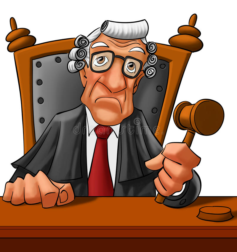Download Judge stock illustration. Image of professional, male - 19726934