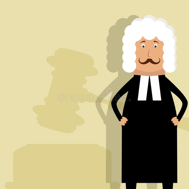 Judge. This is vector picture with judge stock illustration