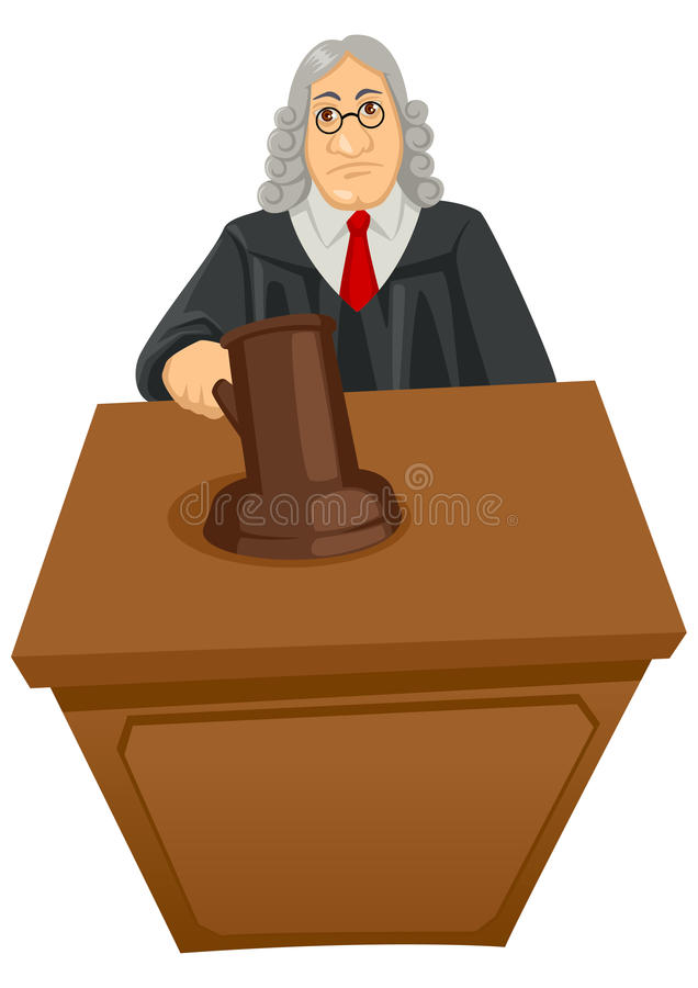 Download Judge stock vector. Image of legal, gown, gavel, caricature - 27822886