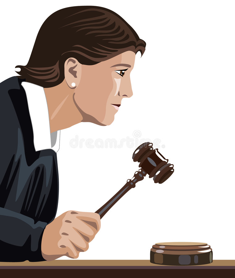Judge. Vector illustration with judge or lawyer royalty free illustration