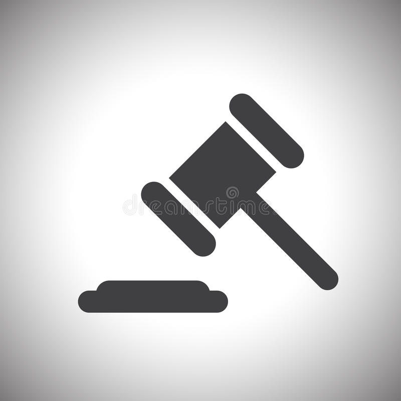 Judge or auction hammer icon vector illustration