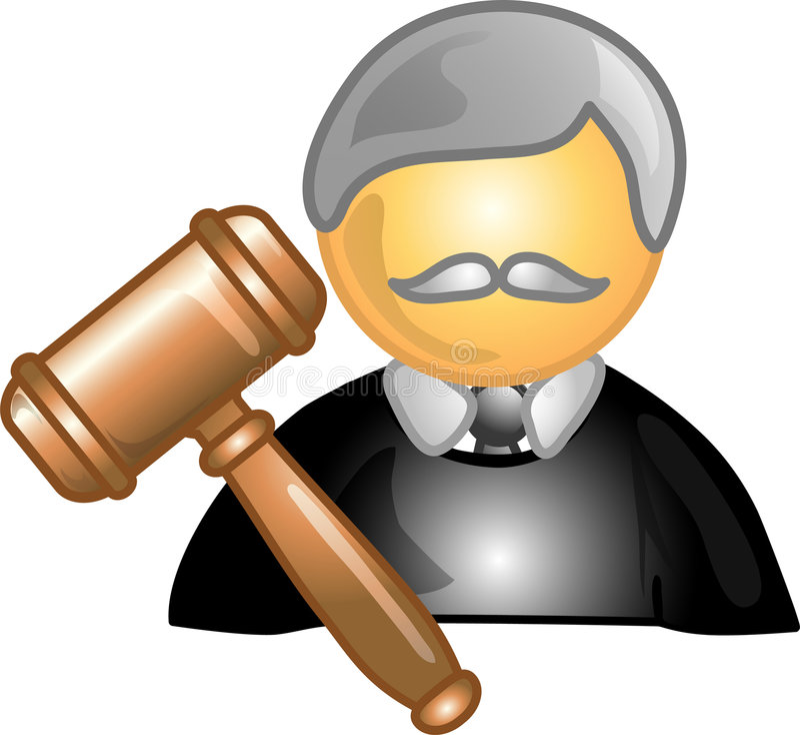 Judge Career Icon Or Symbol Stock Image
