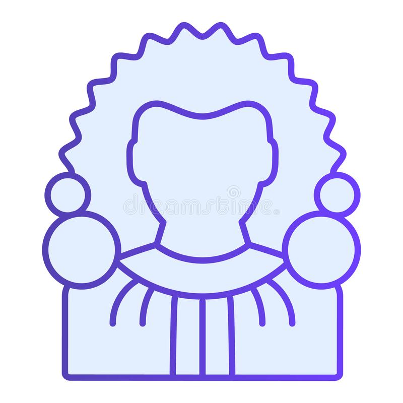 Judge flat icon. Chief justice blue icons in trendy flat style. Court gradient style design, designed for web and app. Eps 10 stock illustration