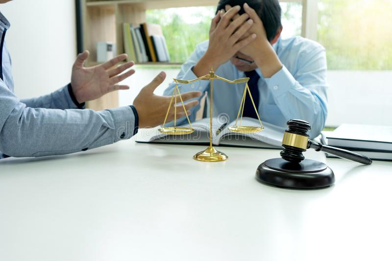 Judge gavel with Justice lawyers, Businessman royalty free stock photo